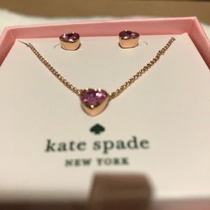 Jewelry - Kate Spade ♠️ ROMANTIC ROCKS Pendant and Studs